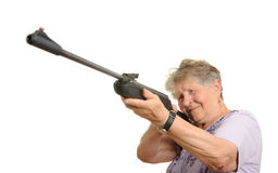 Senior sniper Royalty Free Stock Image