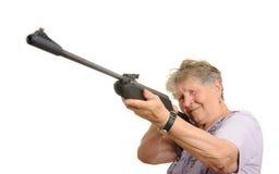 Senior sniper Royalty Free Stock Image