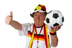 Senior soccer fan Royalty Free Stock Photography
