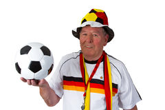 Senior soccer fan Royalty Free Stock Image