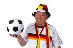 Senior soccer fan Royalty Free Stock Image