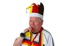Senior Soccer Fan Stock Images