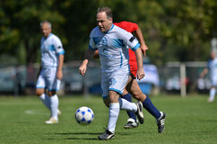 Senior soccer game Royalty Free Stock Image