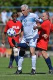 Senior soccer game Royalty Free Stock Photo