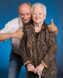 Senior son with old mother Royalty Free Stock Photos