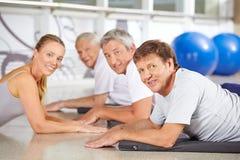 Senior sport in fitness center Stock Photography