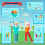 Senior Sport Infographics Royalty Free Stock Photos