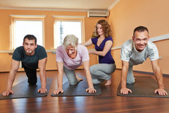 Senior sport with instructor Royalty Free Stock Images