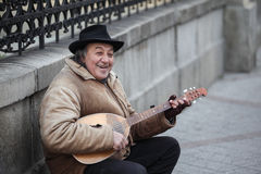 Senior street performer Stock Photography