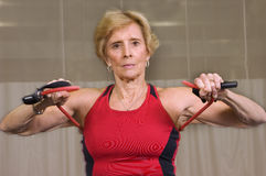 Senior Strength Workout Royalty Free Stock Photo