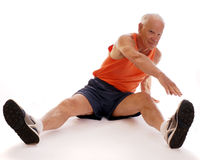 Senior Stretches Royalty Free Stock Photos