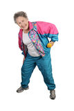 Senior Stretching Stock Image
