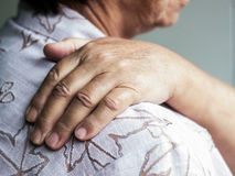 Senior suffers a muscle injury Stock Photography