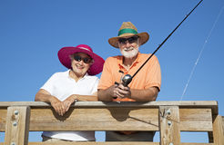 Senior Sun Protection Royalty Free Stock Photography