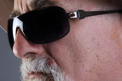 Senior with sunglass Stock Image