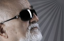Senior with sunglass Royalty Free Stock Image