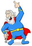 Senior super hero with cape Royalty Free Stock Photos