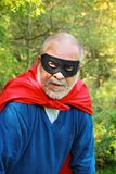 Senior super hero royalty free stock photos