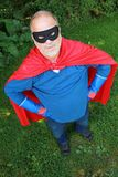 Senior super hero royalty free stock photography