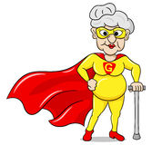Senior super heroine with cape Royalty Free Stock Photography
