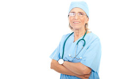 Senior surgeon woman stock image
