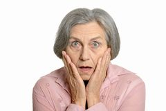 Senior surprised woman Royalty Free Stock Image