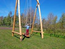Senior on swing Royalty Free Stock Photography