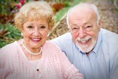 senior szczęśliwa para obraz royalty free