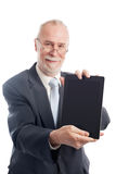 Senior with tablet pc Stock Images