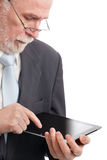 Senior with tablet pc Stock Photos