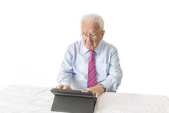Senior with tablet Stock Image