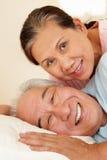 Senior Taiwanese couple resting Royalty Free Stock Photos
