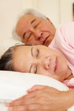 Senior Taiwanese couple sleeping Royalty Free Stock Photography