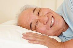 Senior Taiwanese man resting Royalty Free Stock Images