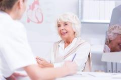 Senior taking care of her health Stock Photo
