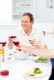 Senior taking lunch with friends Stock Photos