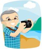 Senior taking Pictures Royalty Free Stock Image