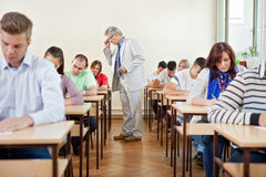 Senior teacher with class Stock Images