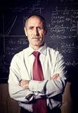 Senior teacher. Portrait of caucasian senior teacher stock images