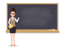 Senior teacher teaching student in classroom Royalty Free Stock Photography