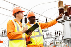 Senior technician and electrician Stock Photography