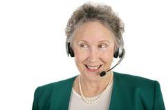 senior telefonu operatora Obraz Royalty Free