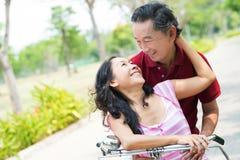 Senior tenderness royalty free stock photos
