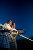 Senior tennis partners Royalty Free Stock Images