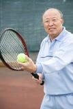Senior tennis player Royalty Free Stock Photo