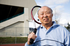 Senior tennis player Royalty Free Stock Images
