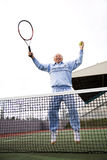 Senior tennis player Stock Images