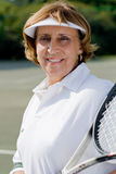 Senior tennis player Royalty Free Stock Image