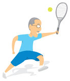 Senior tennis player Stock Photos
