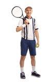Senior tennis player holding a racquet Stock Photography